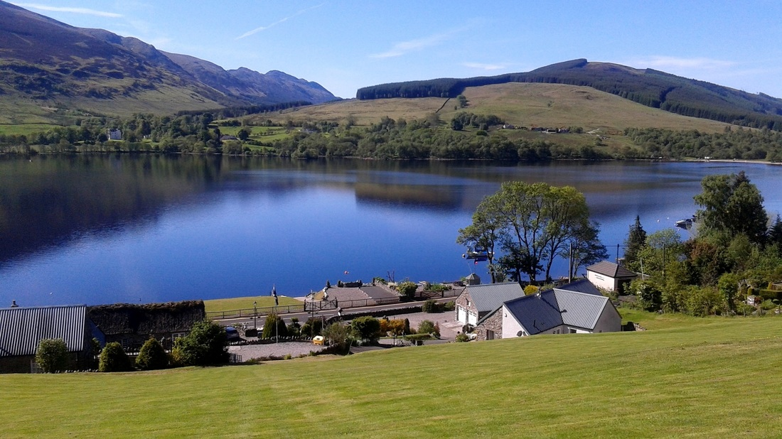View Loch Earn from top of Briar Cottages