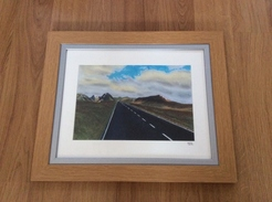 Road to Glencoe pastel by Mick Curant