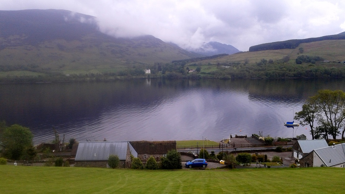 Top Garden View from Briar Cottages Loch Earn