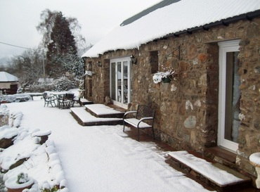 Briar Steading in  snow