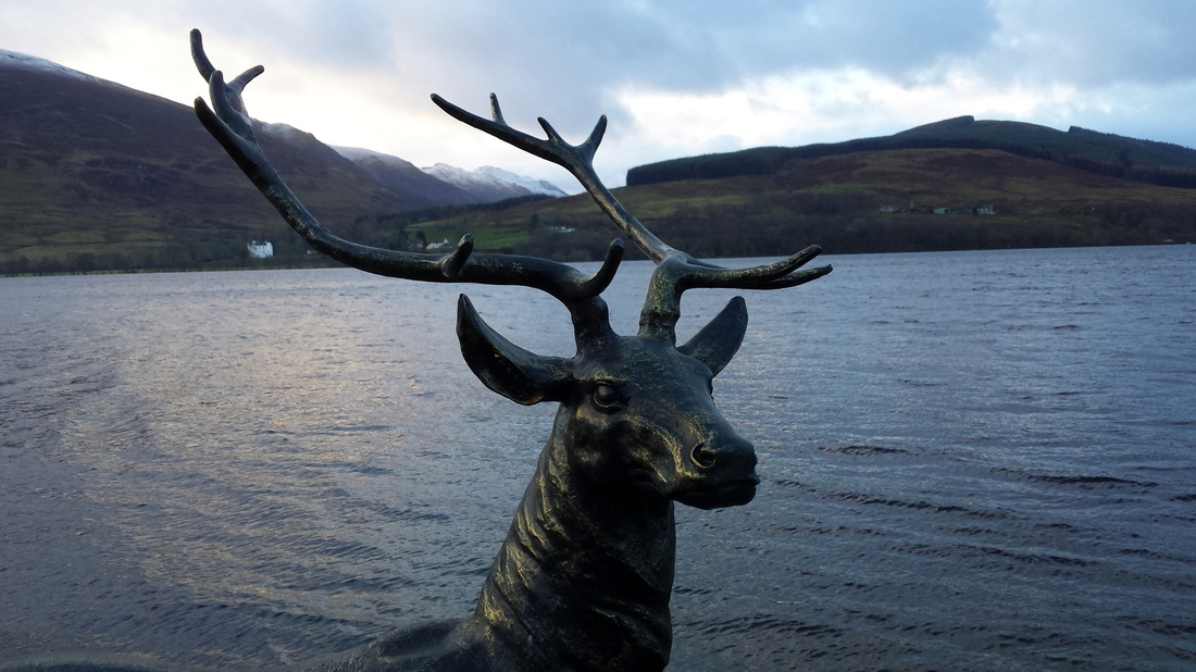 Stag statue Loch Earn