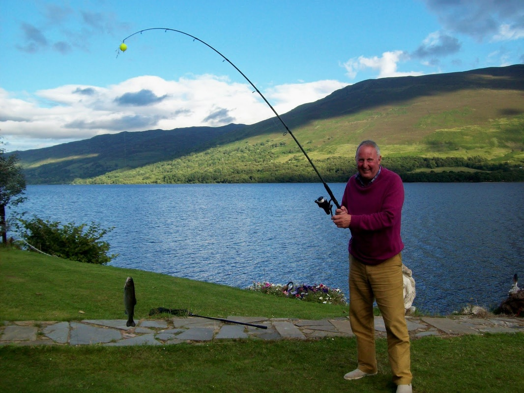 Fraser fishing Loch Earn