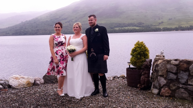 Bride and Groom Loch Earn