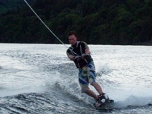 water skiing and wakeboarding on Loch Earn