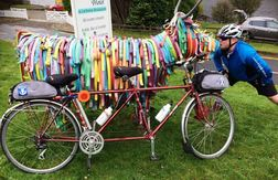 Tandem bike from Matildas Musings with Bill The Bull at The Lochearnhead Hotel