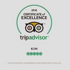 certificate of excellence 2018 Briar Cottages Lochearnhead
