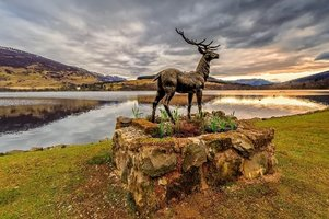 Stan The Stag BLiSS trail ornamental feature, Lochearnhead A84