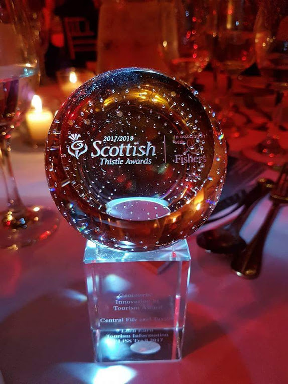 Thistle Award trophy sponsoreg by GeoTourist travel App