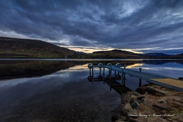 Jetty at Briar Cottages Loch Earn