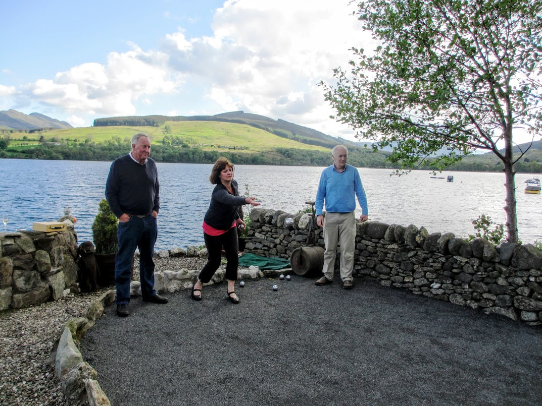 Petanque at Briar Cottages, Loch Garden