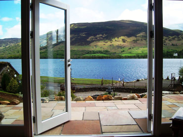 Loch Earn view from patio windows