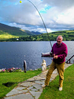 Trout fishing on Loch Earn at Briar Cottages
