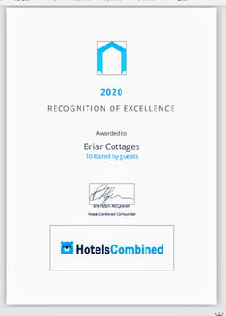Recognition of Excellence 2020, Briar Cottages Lochearnhead, Scotland