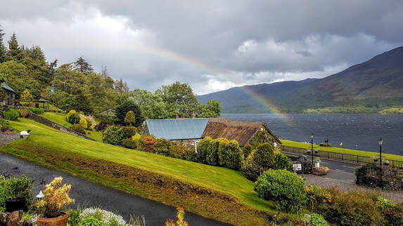 Rainbow on Loch Earn from Briar Cottages