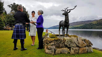 Humanist wedding at Briar Cottages on Loch Earn