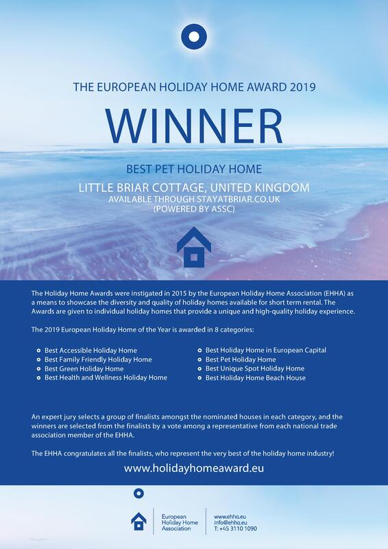 Best Pet Holiday Home Europe winners certificate